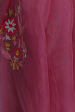 Hot Pink Organza Saree