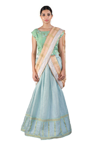 Blue and Green Lehenga