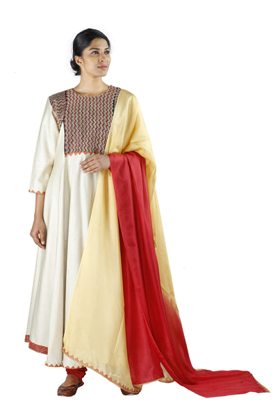 White Silk Salwar