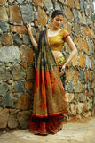 Deepavali - Four colour silk saree
