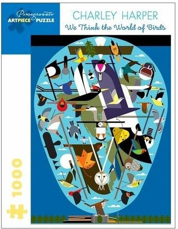 Charley Harper: We Think the World of Birds 1000 pc puzzle