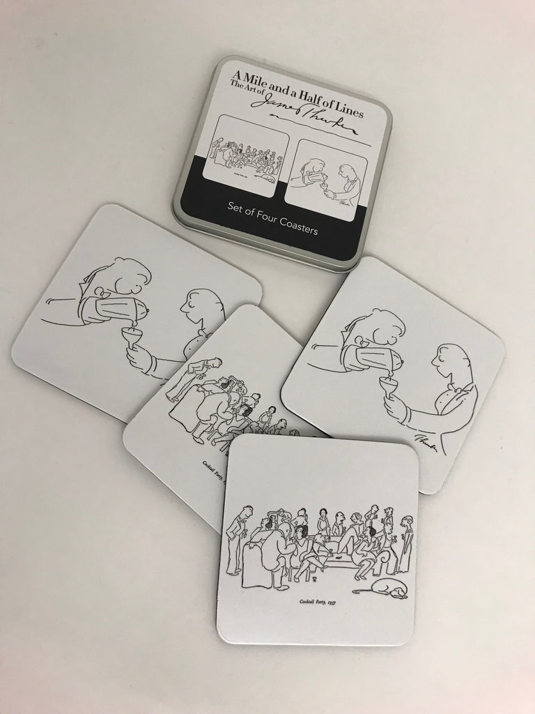 James Thurber Coaster Set