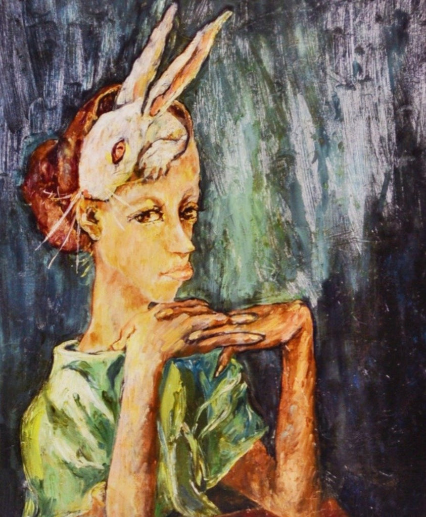 Aminah Lynn Robinson poster- Self Portrait with Rabbit
