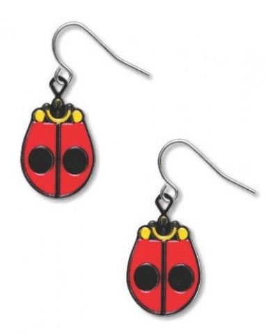 Charley Harper Ladybug Earrings