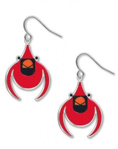 Charley Harper Cardinal Earrings