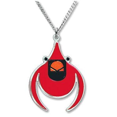 Charley Harper Cardinal Necklace
