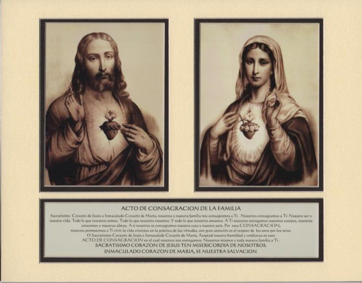Image and Prayer Booklet for Household Consecration to Sacred and Immaculate Hearts