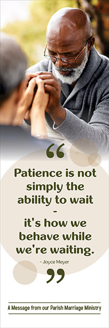 Banner - Patience is not Simply...