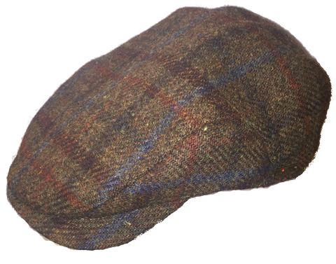 Wigens Scottish Tweed Ivy Cap Brown