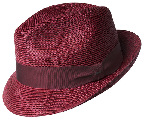 Bailey Craig Stingy Brim Fedora Red
