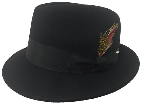 Capas Blues Brothers Black Fedora Hat
