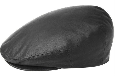 Kangol Leather Ivy Cap Black