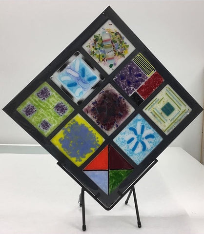 Collaborative Quilt on a Stand