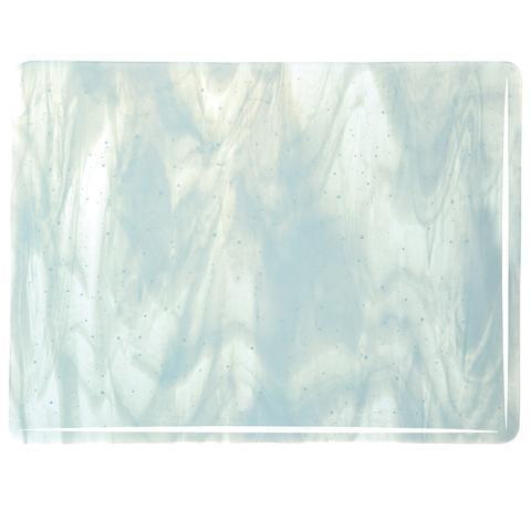 Aqua Blue Tint, White Streaky (2218) Full Sheet Glass-The Glass Underground