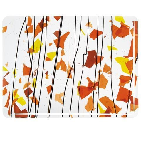 Autumn: Orange, Yellow and Red on Clear (4111) Full Sheet Glass-The Glass Underground