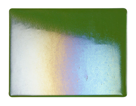 Aventurine Green Transparent Irid (1112-51) 2mm-1/2 Sheet-The Glass Underground