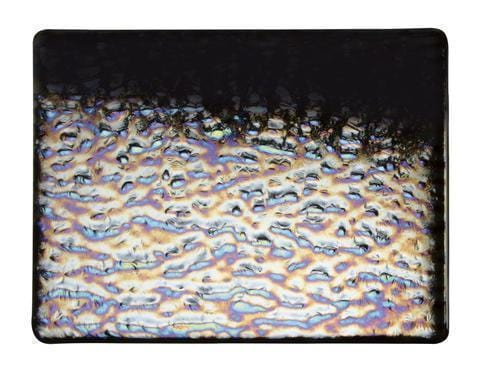 Black Opal Soft Ripple Irid (100-24) Full Sheet Glass-The Glass Underground