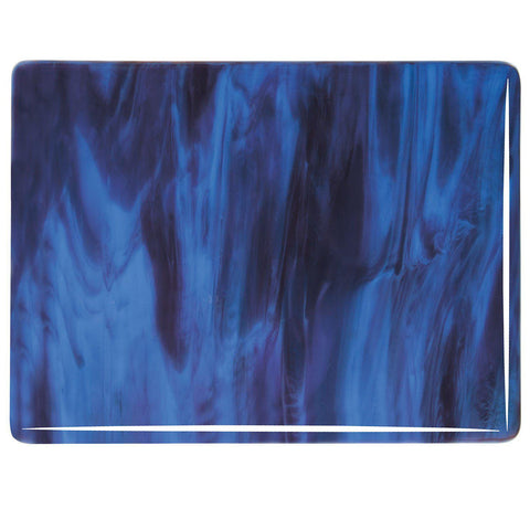 Blue Opal, Plum Streaky (2105) 3mm-1/2 Sheet-The Glass Underground