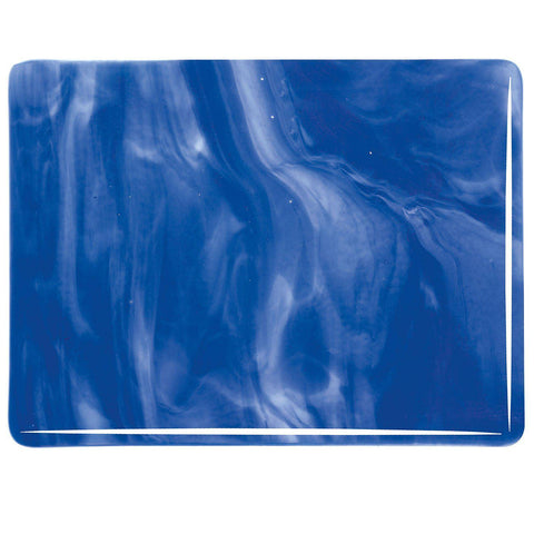 Caribbean Blue, White Streaky (2164) 3mm-1/2 Sheet-The Glass Underground