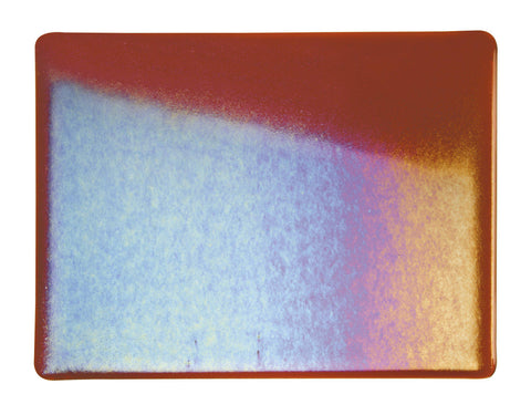 Carnelian Transparent Irid (1321-31) 3mm-1/2 Sheet-The Glass Underground