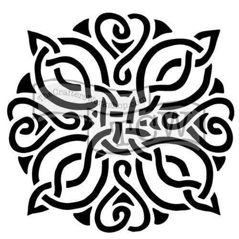 "Celtic Knot Stencil-12"" x 12""-The Glass Underground"