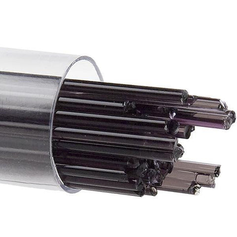 Charcoal Gray Transparent Stringers (1129)-2mm-Tube-The Glass Underground