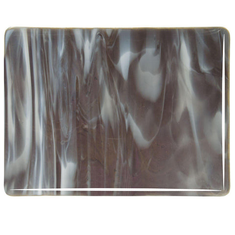 Charcoal Gray, White Streaky (2129) 3mm-1/2 Sheet-The Glass Underground