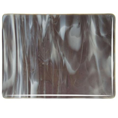 Charcoal Gray, White Streaky (2129) Full Sheet Glass-The Glass Underground