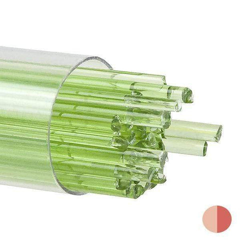 Chartreuse Transparent Stringers (1126)-2mm-10-The Glass Underground