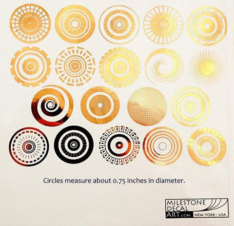 Circle Pattern Decals-Gold-The Glass Underground