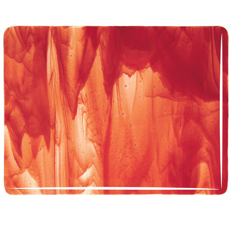 Clear, Red Opal Streaky (2024) 3mm-1/2 Sheet-The Glass Underground