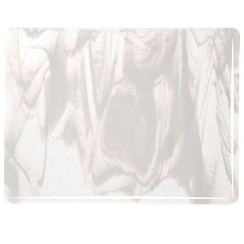 Clear, White Streaky (2130) 3mm-1/2 Sheet-The Glass Underground