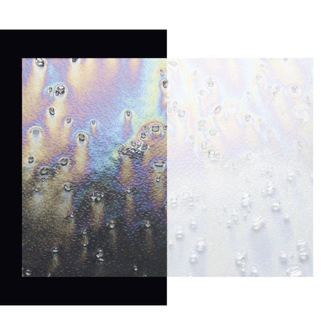 Clear with Clear Frit Transparent Irid (4202-31) 3mm-1/2 Sheet-The Glass Underground