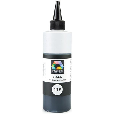 Color Line Paints 10.5 oz.-Black-The Glass Underground