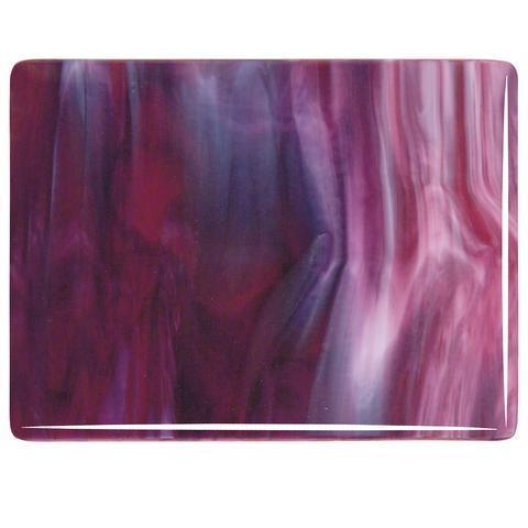 Cranberry Pink, Gold Purple, White Streaky (3334) Full Sheet Glass-The Glass Underground