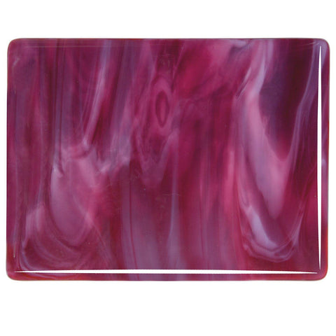 Cranberry Pink, White Streaky (2311) 3mm-1/2 Sheet-The Glass Underground
