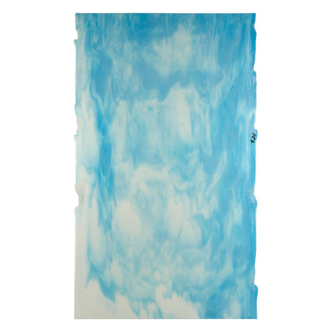 Cream Opal, Light Aquamarine Blue Streaky (80110B) 3mm-1/2 Sheet-The Glass Underground