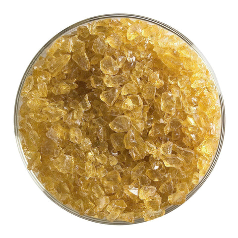 Dark Amber Tint Transparent Frit (1838)-5 lbs.-Coarse-The Glass Underground