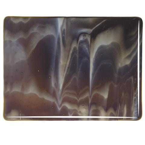 Dark Brown, White Streaky (2209) Full Sheet Glass-The Glass Underground