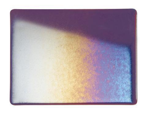 Deep Plum Transparent Irid (1105-31) Full Sheet Glass-The Glass Underground