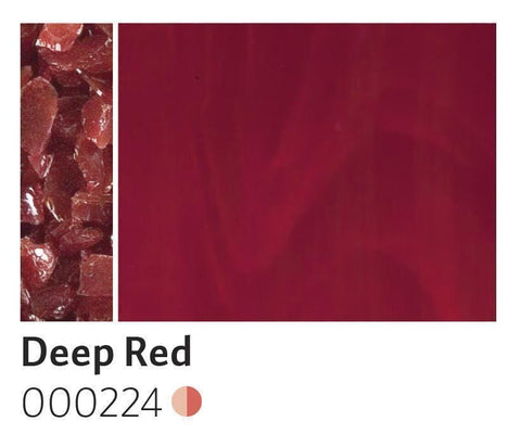 Deep Red Opal Frit (224)-5 lbs.-Coarse-The Glass Underground