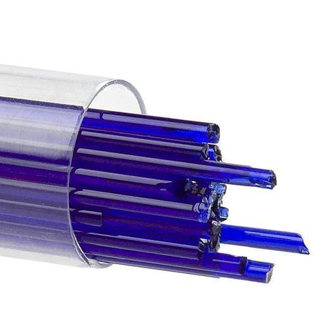 Deep Royal Blue Transparent Stringers (1114)-2mm-10-The Glass Underground