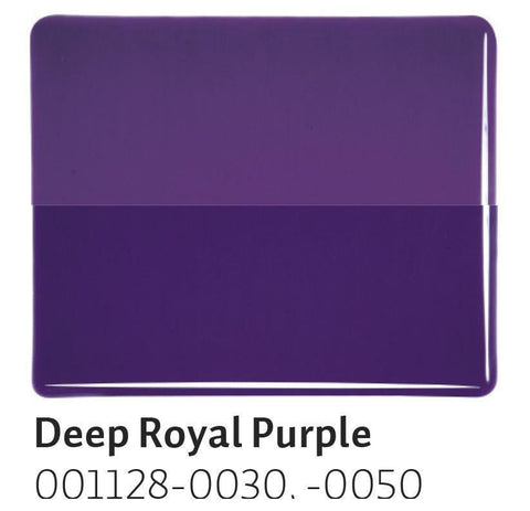 Deep Royal Purple Transparent (1128) 2mm-1/2 Sheet-The Glass Underground