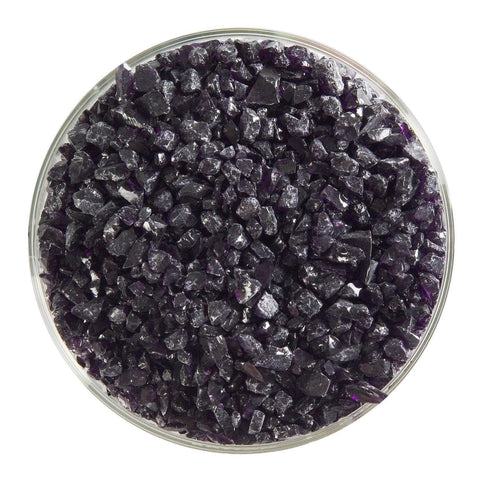 Deep Royal Purple Transparent Frit (1128)-5 lbs.-Coarse-The Glass Underground