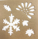 Design Stencils-Snowflakes & Leaves-The Glass Underground
