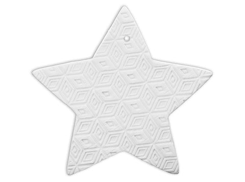 Embossed Star Ornament-The Glass Underground