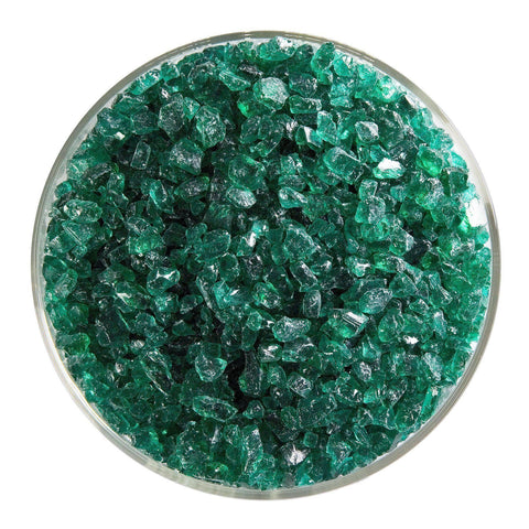 Emerald Green Transparent Frit (1417)-5 lbs.-Coarse-The Glass Underground