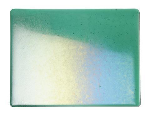 Emerald Green Transparent Irid (1417-31) Full Sheet Glass-The Glass Underground