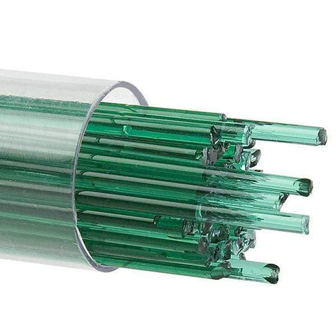 Emerald Green Transparent Stringers (1417)-2mm-10-The Glass Underground