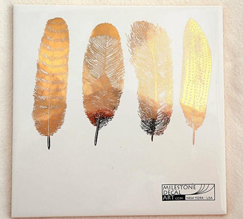 Feathers Decals-Gold-The Glass Underground
